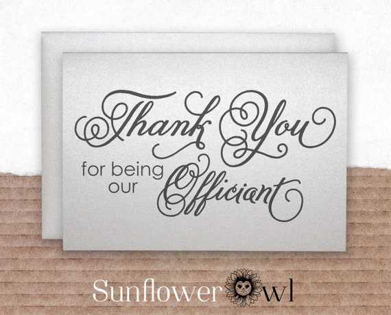 Wedding Officiant Gift Ideas: Thank You For Being Our Officiant Gift Wedding Officiant