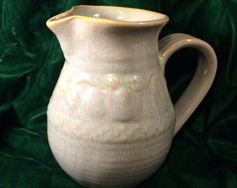 Stoneware pottery jug or pitcher