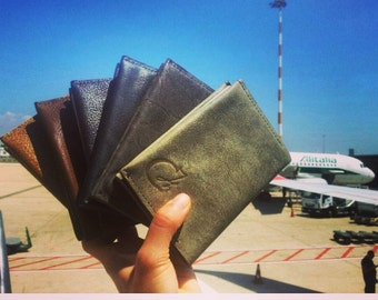 xmas stocking stuffers - Leather Passport cover - Coverage passport - Travel with Style - Passport cover - leather gift for travelers
