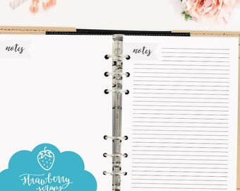 """A5 printable: """"NOTES"""" Printable Notes 