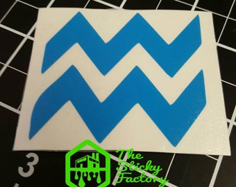 Aquarius zodiac vinyl decal sticker