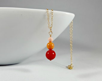 Coral Swarovski Pearl Drop Pendant