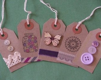 Set of 5 gift tags