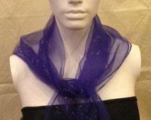 1960's Vintage Blue, Delamere Nylon Head Scarf - Perfect condition new