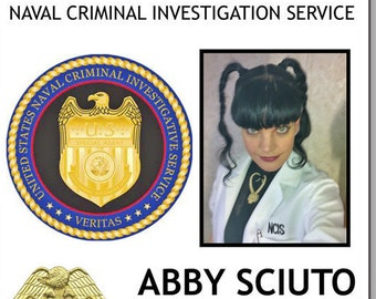 ABBY SCIUTO Forensic Specialist from NCIS Magnetic Fastener Name Badge Halloween Costume Prop
