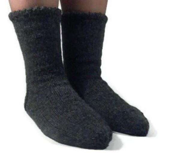 Knitting Patterns Sleeping Socks : Hand Knitted Wool Socks Sleeping Socks Warm Winter by FEETinWOOL