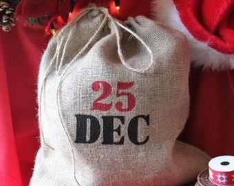 Classic Hessian Jute Burlap Christmas Gift Sack