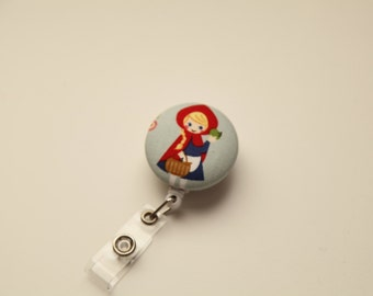 Little Red Riding Hood Kawaii Retractable ID Badge Reel - FREE SHIPPING with another purchase - Name, Tag, Nurse , Teacher Badge Holder