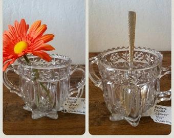 Vintage Antique EAPG Crystal Spooner - 19th Century Glass - Just wonderful!