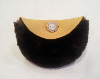 coin purse, leather coin purse, coin pouch, leather coin pouch, rustic coin purse, fur pouch,fur coin purse