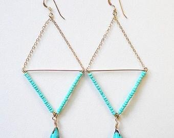 Turquoise Abaco Earrings