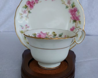 ANTIQUE DEMITASSE CUP and Saucer, England, Vintage, Collectible, including stand