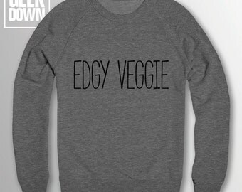 Edgy Veggie *vegan* sweatshirt // vegan jumper / vegan clothing / veggie / vegetarian / animal rights