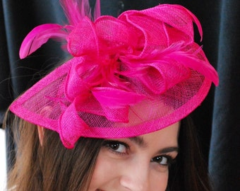 Pink Fascinator, Tea Party Hat, Church Hat, Kentucky Derby Hat, Fancy Hat, Pink Hat, Tea Party Hat, wedding hat, British Hat