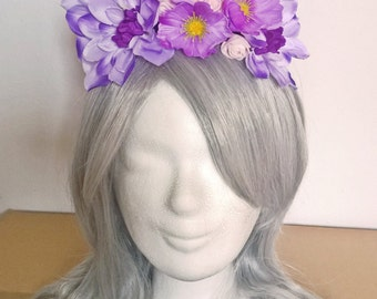 Purple flower headpiece