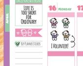 Munchkins - I'm a Volunteer! Planner Stickers (M178)