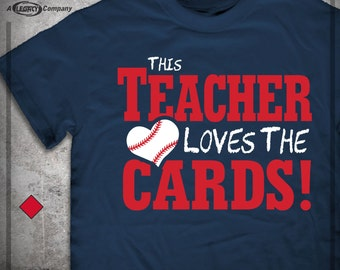 This TEACHER Loves the CARDS T-shirt Hoody - Cardinals Tee - St. Louis  ID13