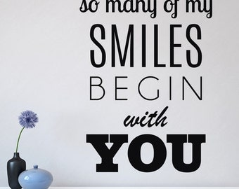 Begin With You- Wall Decal Quote