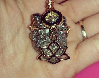 Wire Wrapped Pyrite Crystal Pendant
