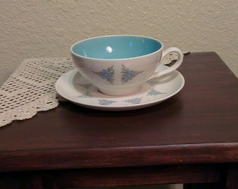 Vintage Taylorton Rhapsody by John Gilkes Teacup and Saucer (1950s)