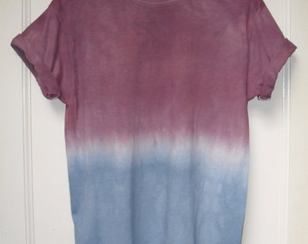 Tie Dye T-Shirt ombre acid wash T-shirt hipster festival red blue grunge Retro 90s indie OMBRE dip dye unisex rave skate top