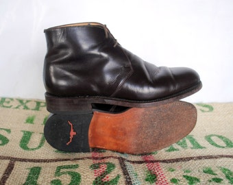 Brown R.M. Williams Kingsvale Boots - Lace Up  – 90s Vintage Made in Australia – Size: RMW 6.5 G  -US L 8.5 us m 7.5 EU 40