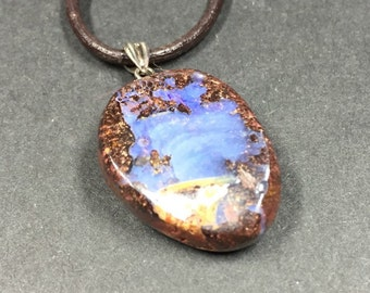 Australian Boulder Opal Necklace B-15369
