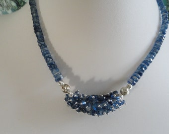 Kyanite necklace and earring set   -   #462