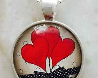 Glass pendent All about love
