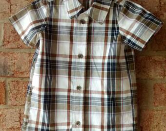 Dress Shirt Romper - 18 months