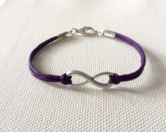 Purple Eating Disorder Awareness Bracelet Infinity Bracelet