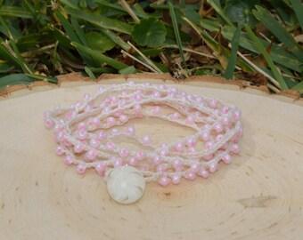 Bracelets, Beaded Bracelets, Boho Bracelets, Crocheted Bracelets, Crocheted Wrap Bracelets, Wrap Bracelets