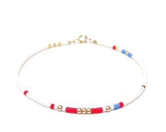 tiny delicate bracelet Layering bracelet delicate friendship bracelet layering bead bracelet