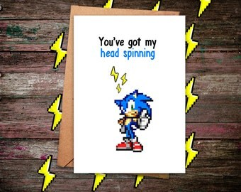 Sonic Card, Sonic the Hedgehog, Greeting Card, Sonic, Sonic the Hedgehog Birthday, Sonic Birthday, Sonic the Hedgehog Plush, Sonic Plush