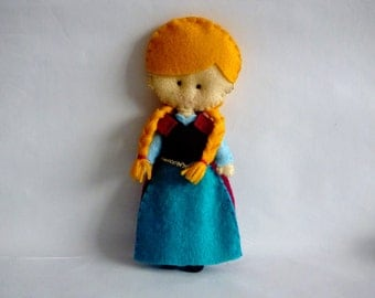 Disney Princess Anna Inspired Felt Doll