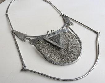 Aluminium Collar, Felt Metal Necklace