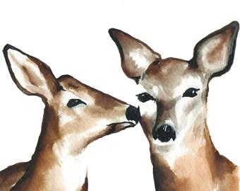 Deer to Me Animal Greeting Card