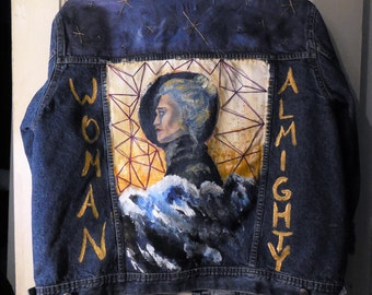 Custom Painted Denim Jacket