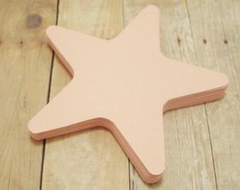 Cardstock Star Cutouts-Light Pink Star Cutouts-Scrapbooking Cutouts-Embellishments- Paper Cutouts-Party Decor-Starfish Shapes-Pink Stars