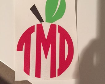 Apple Teacher Monogram
