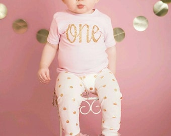 Gold Polka Dot Leggings, Birthday Outfit, First Birthday, Newborn, Baby Leggings, Toddler, Gold Foil, Metallic Gold, Pants, Baby Gift, Party