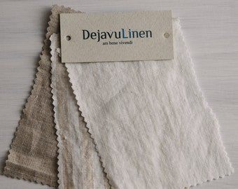 Samples of wide rustic medium heavy linen fabric, stone washed heavy linen fabric, authentic soft linen, Eco friendly linen, DIY projects