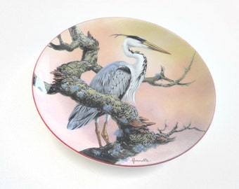 Wedgwood The Water's Edge Silent Sentry collectors plate by Francis - Heron