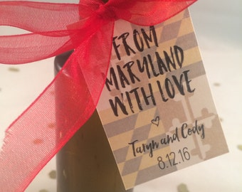 from maryland with love // wedding favor tags // printable // custom