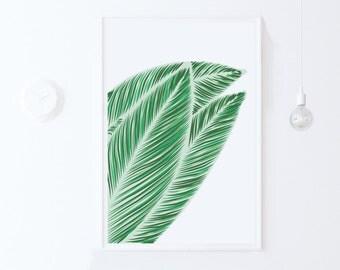 Green PRINTABLE ART Print, Digital Art Download, Modern Digital Print Green Wall Art Print, Green Leaf Print, Green Print Downloadable Print