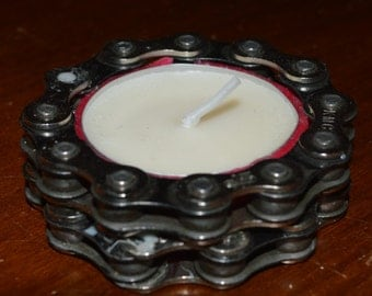 Bike chain candle