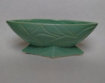 Mid Century Vintage- Turquoise Bowl/Planter- Robinson Ransbottom RRP CO Pottery