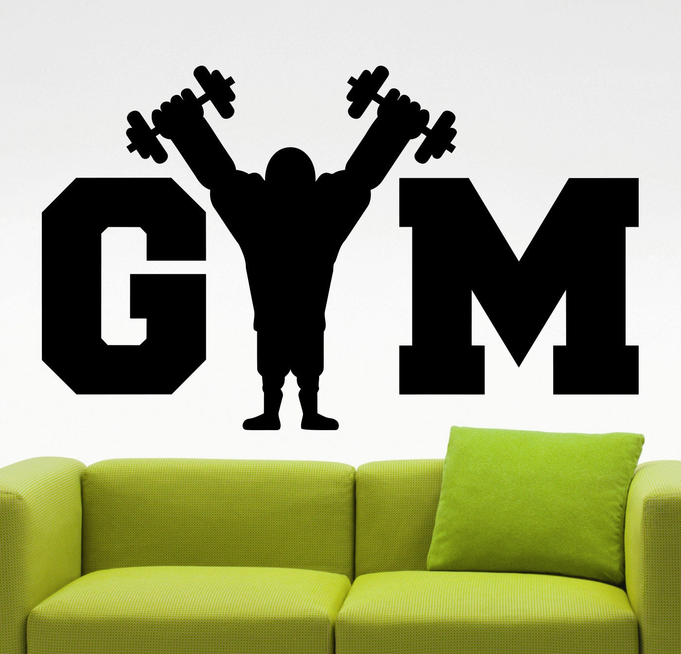 Sticker gym wall - Gym Wall Decal Fitness Stickers Sports Decals Sports Room Design Fitness Center Decoration Wall Mural Vinyl