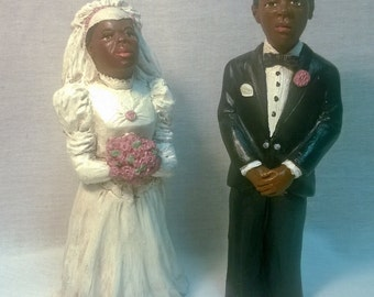 "Handpainted ""Bride and Groom"" Set"