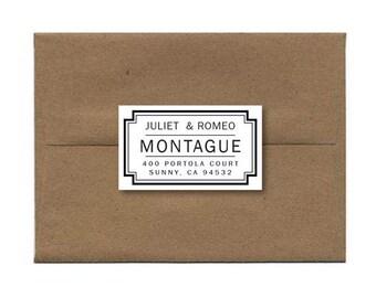 Personalized Address Stickers Custom Address Label, Modern Address Stickers, Return Address Label - Set of 18
